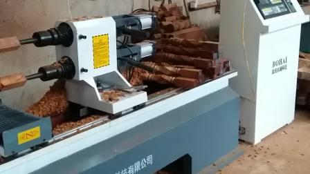 福建漳州楼梯加工厂做异型楼梯扶手立柱 博海数控木工车床技术支持,包教包会