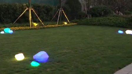 君晓天云led石头灯仿真卵石灯别墅花园草坪灯防水太阳能景观庭院装饰地埋灯