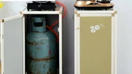君晓天云铝合金瓦斯瓶罐柜竈台餐柜茶水柜水桶柜现代简易厨房整体橱柜置物架