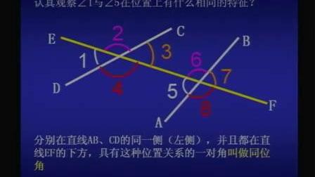 人教版七年级数学下册第五章5.1.3《同位角内错角同旁内角》高清