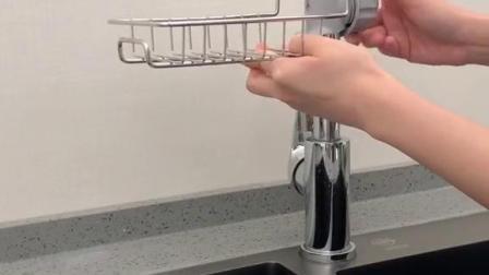 购物分享这款水龙头置物架能帮你解决厨房收纳的烦恼哦可以收纳小物件很方便的我的日常生活厨房