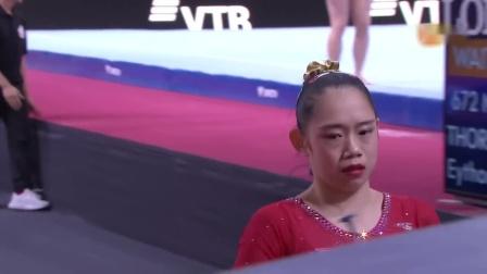 2019年斯图加特体操世锦赛女子团体决赛,队长刘婷婷失误遗憾第四无缘奖牌