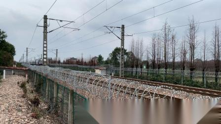 K1512次 HXD3C0801 通过沪昆线K146KM斜桥师古桥