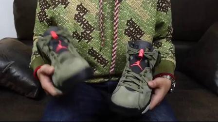 Air Jordan 6 x Travis Scott AJ6 TS 联名橄榄绿 鬼脸CN1084-200 GET毒版 莆田鞋和正品差在哪?顶级版本看不出来