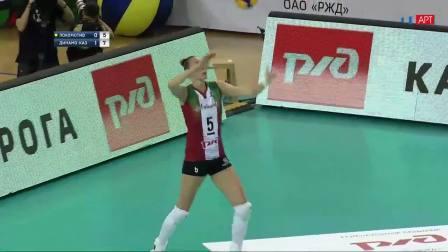 火车头 2-3 喀山迪那摩 - 20192020俄罗斯女排超级联赛第2轮