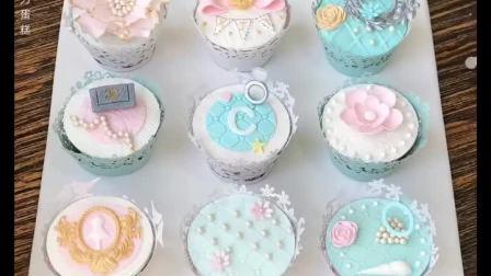 婚礼,生日私人定制主题甜品台杯子蛋糕系列,手工巧克力捏塑蛋糕,全部可食用口感软糯 青岛烘