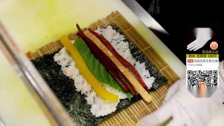 正宗韩国紫菜包饭教程,一天狂卖2千个