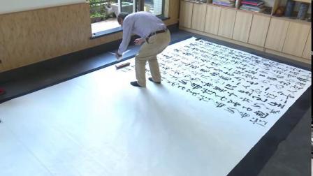 劉燦銘先生創作巨幅作品《大势至菩萨念佛圓通章》