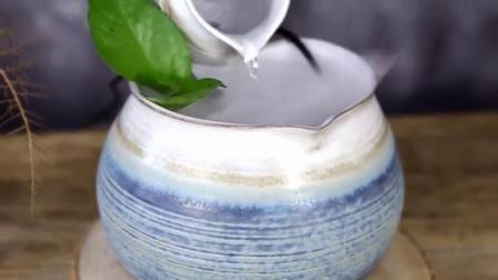 客厅陶瓷流水喷泉加湿器招财摆件