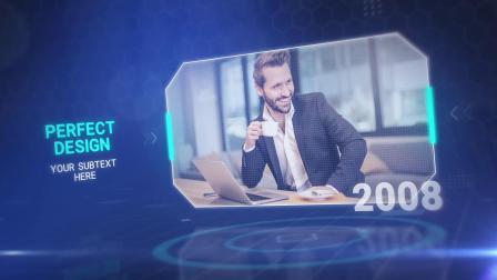 AE模板-商务企业科技感时间线宣传片头 Corporate Business Template