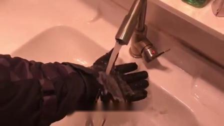 舒适保暖,全真皮碳纤维骑行手套
