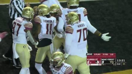 2019赛季NCAA第8周 佛罗里达州立大学vs维克森林大学