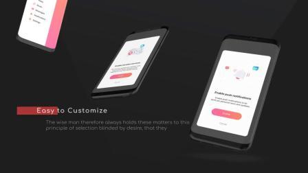 AE模板 时尚简约炫酷社交App安卓手机多画面展示介绍视频宣传片