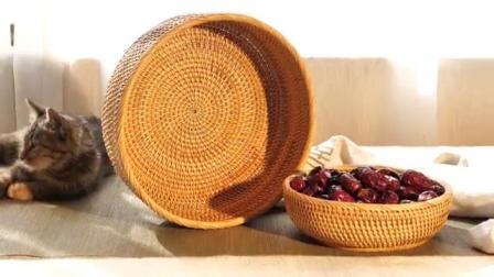 创意水果篮,藤编里的艺术生活