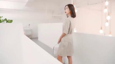 圆领纯棉连衣裙,欧美风满满