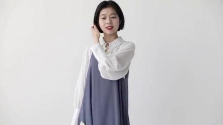 金大班韩版小清新中长款连衣吊带裙