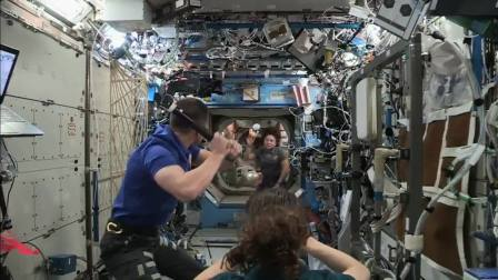 ISS astronauts played baseball in space