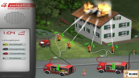 汽车总动员 消防火车救火视频 水用完了火没扑灭 森林救火