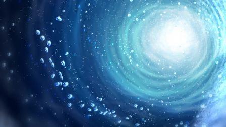 047 唯美抽象星空蓝色幕布粒子