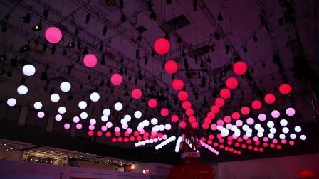 LED发光升降球灯