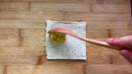 会爆浆0添加的低卡全麦土司香蕉卷,烤完满屋飘香~