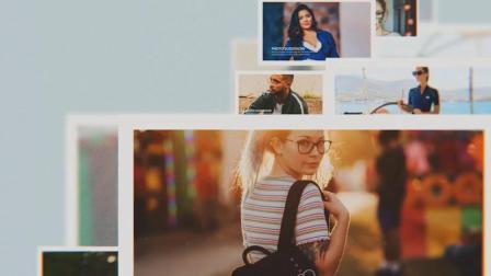 AE模板 清新简约生活回忆爱情婚礼成长 暖场电子相册视频幻灯片