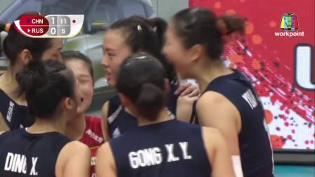 中国 vs 俄罗斯 - 2019女排世界杯