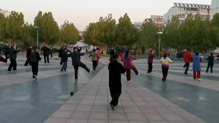 山东邹城宋蕾快速演练武式太极拳九十六式完整视频