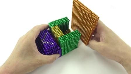 DIY如何使用彩色巴克球球为小猪佩奇建造集装箱汽车