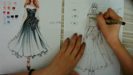 服装设计零基础快速入门服装设计零基础快速入门手绘连衣裙手稿绘制山本教育手绘连衣裙手稿绘制山本教育