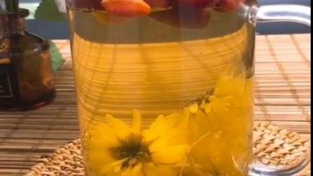 女生腰部有赘肉皮肤暗黄这样喝#健康茶包 #菊花决明子茶 #肤色暗黄