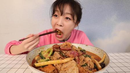 【大胃mini的Vlog】我的外卖榜单第一名,干了这碗不带汤的400块麻辣烫!