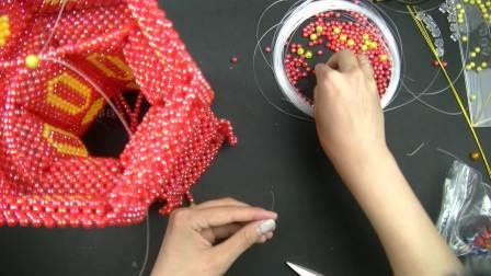 宫灯第四节 DIY串珠宫灯视频教程 手工编制挂件视频教程