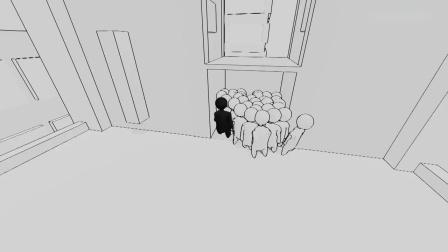 人群模拟器 我快被去学校途中地铁里的人挤爆啦 屌德斯解说