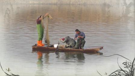 徒骇河上打渔船