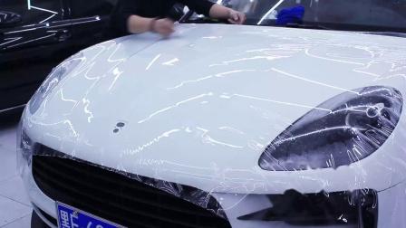 玛卡前机盖贴隐形车衣专业技术讲解教程 透明膜教程