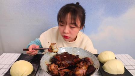 【大胃mini的Vlog】冬天就得吃肉肉 这么吃大馒头越吃越香