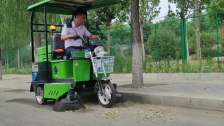 金恺电动扫地车SD-18清扫树叶效率高