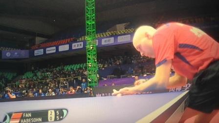 体育解说好声音一2019成都乒乓球男子世界杯1/8决赛樊振东VS哈贝松比赛精彩回放  (Yi绝解说)