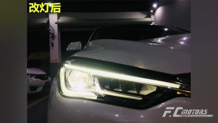 广州黄埔英菲尼迪QX50大灯升级米石LED大灯