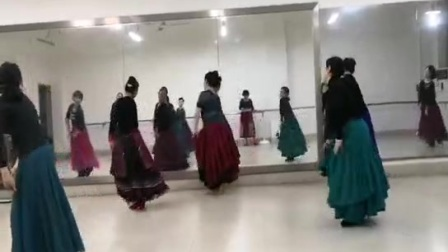 尼泊尔舞蹈《就是喜欢你》背面,编舞:舞精灵,南区课堂视频。