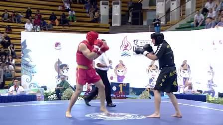散打沙皇职业生涯最快KO!重拳击穿护具