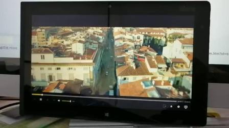 thinkpad tablet2 播放1080p的鬼影特攻演示