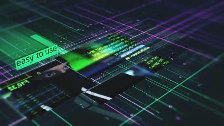 AE模板-4K未来数据科幻元素图片视频片头