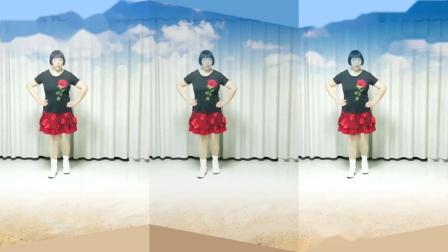 莲芳姐广场舞《幺妹住在十三寨》来自网络   网红神曲28步
