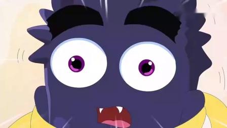 这是谁的牙齿啊这咋这么埋汰呢,牙牙精灵帮它清理干净