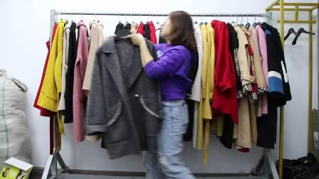 2019年最新精品女装批发服装批发女装货源时尚女士百分百双面羊绒大衣20件起批