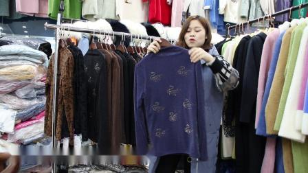 2019年最新精品女装批发服装批发女装货源时尚女士加绒打底衫20件起批