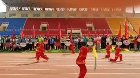 阿拉善左旗第六小学  武术队  全旗职工运动会开幕式表演