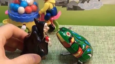 巫婆碰到了王子,用计谋把王子变成青蛙了,你能帮帮王子吗